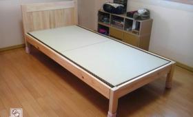ひのきベッド角 畳は和紙畳 NO1503028