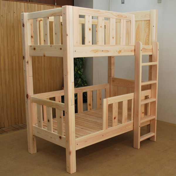 小さいサイズの二段ベッド 幼児用二段ベッド   無垢木製オーダーベッド