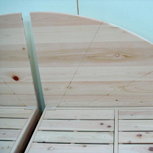 ベッド2台で一つのヘッドの形に