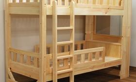 大人が使うひのき棚付二段ベッドベッド下32cm NO1501036