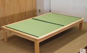 セミダブルのひのき畳ベッド 板の間へり付き NO1312036
