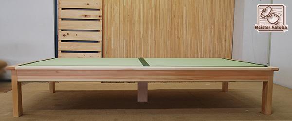 セミダブルのひのき畳ベッド 板の間へり付き