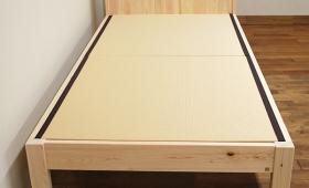 白い畳ベッド ひのき棚付畳ベッド NO1503009