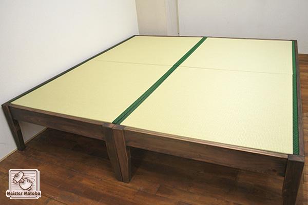ひのき畳ベッド 2台連結2畳