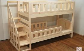 階段付き二段ベッド、キシミ音も解消NO1503012