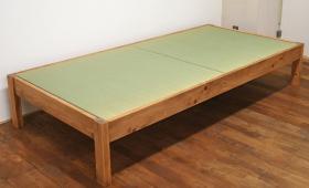 国産畳おもて へり無し畳の畳ベッド NO1503045