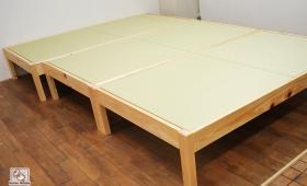 ひのき畳ベッド 畳はへり無しダイケン畳おもて和紙 NO1504018