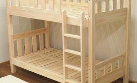 あらめの縦格子のひのき二段ベッド NO1404001