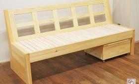 無垢ひのき木製ソファー NO1505042