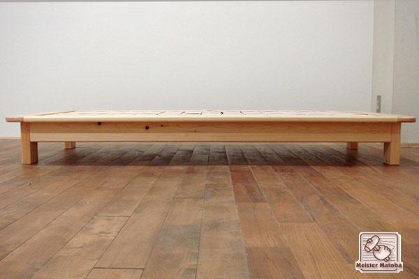 へり付き幅94cm長さ184cmのオーダーベッド