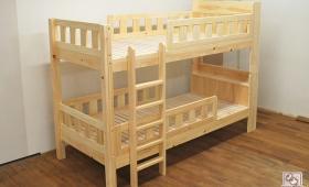 ひのき棚付二段ベッド 別柱補強で頑丈さアップ NO1503031