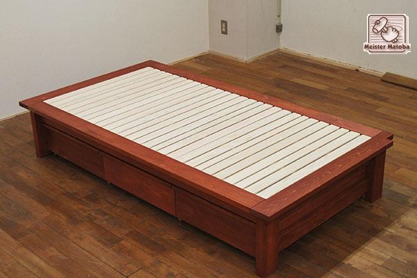 ひのきベッド ベッド下収納