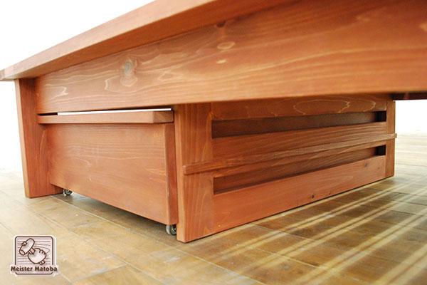 ベッド下収納BOX サン付き