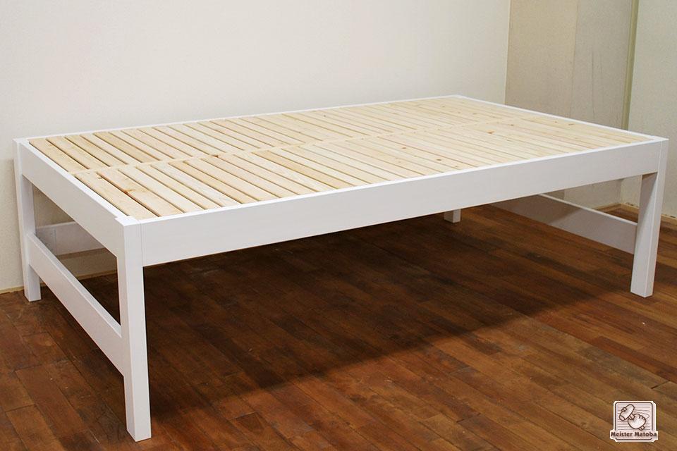 真白セミダブルのミドルベッド高さ62cm NO1506007