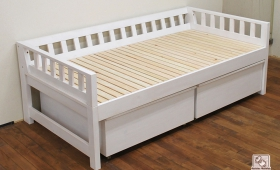 ソファーにも活用するひのきミドルベッド寝台高さ50cm NO1509016