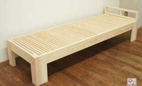 ひのき木製ソファーベッド幅が広がりベッドになる伸縮ベッド