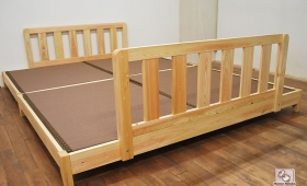 畳ベッド、セミダブルとダブルをくっつけて大き目の柵付 NO1510018