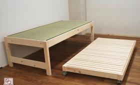 畳ベッドの親子ベッド 下段キャスター付き畳無し NO1510044