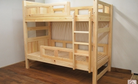 柵の形をオーダー変更のひのき二段ベッド NO1503038