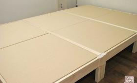 ひのきベッド 畳ベッド3台連結 NO1602038