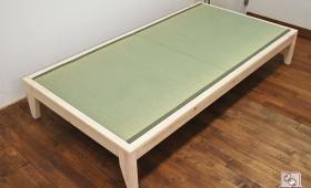 無垢国産ひのき畳ベッド 幅110センチ NO1603055