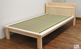 棚付へりつきシングル畳ベッド幅120cm NO1603068