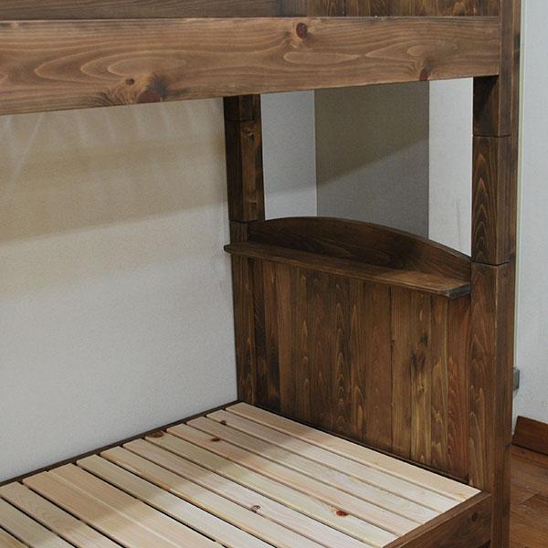 幅91cmの細いひのきオーダー二段ベッド