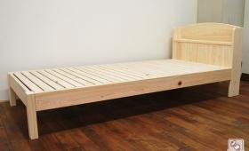 ひのき棚付ベッド ヘッド部カーブ ヘッド部75cm NO1610033