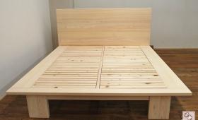 ひのきオーダーベッド幅172cm大きなベッド NO1610040