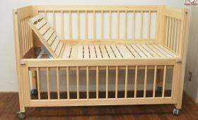 ひのき介護用ベッド 訓練ベッド 背傾斜付き NO1610011
