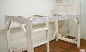 二段ベッドの上段をリノベーションしてロフトベッドに NO1702029