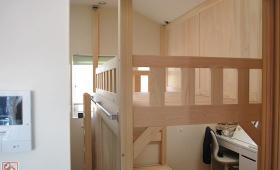 二段ベッドがお部屋を2つに分ける間仕切りに NO1611018