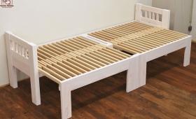 ハーフサイズのひのき伸縮ベッド NO1702010