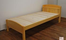 ひのき棚(宮)付きシングルベッド ロングサイズ 着色仕上げ