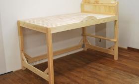 セミダブルサイズのひのきロフトベッド、足取り外し可能1702022
