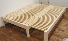 幅120cmを165cmに広げるひのき伸縮ベッド 1702036