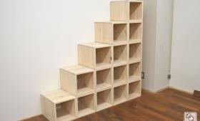 ひのきボックス式階段 オープンボックス 1703017