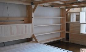 二段ベッドとダブルサイズのロフトベッドの組み合わせ 1703048