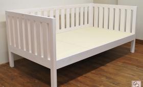 3面を囲ったひのきオーダーベッド、白塗装仕上げ NO1704027