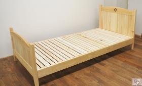 ヘッド部・フット部同じカーブの形のシングルベッド 1704019