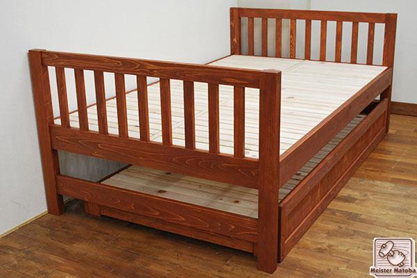 ひのき親子ベッド着色仕上げ トランドルベッド