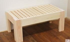 ひのき伸縮ベッドのハーフサイズ伸縮ベンチ NO1706007