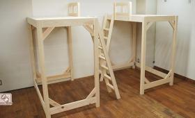 寝台高さ170cmのロフトベッド NO1707016