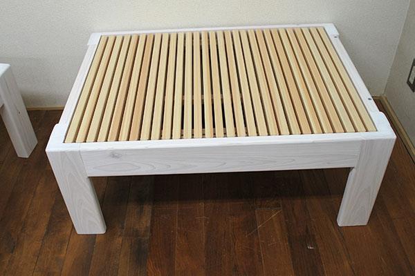 ひのき伸縮ベッド 広がるベンチベッドハーフサイズ