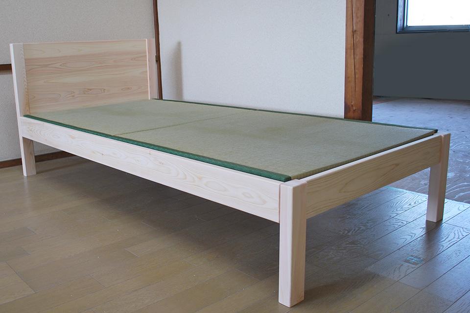 ひのきヘッド部無垢板1タイプ畳ベッド 1802028