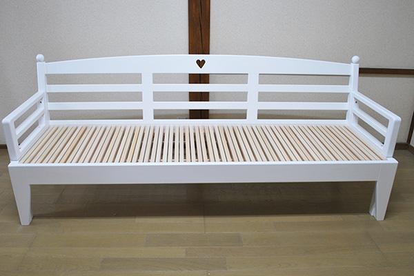 ひのき伸縮ソファーベッド