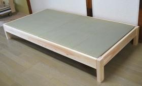 ひのき畳 昔の硬さの畳をご希望と 畳ベッド 1805021
