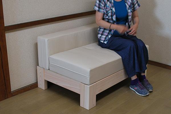 ひのき伸縮2wayベッドと分離式マットレス
