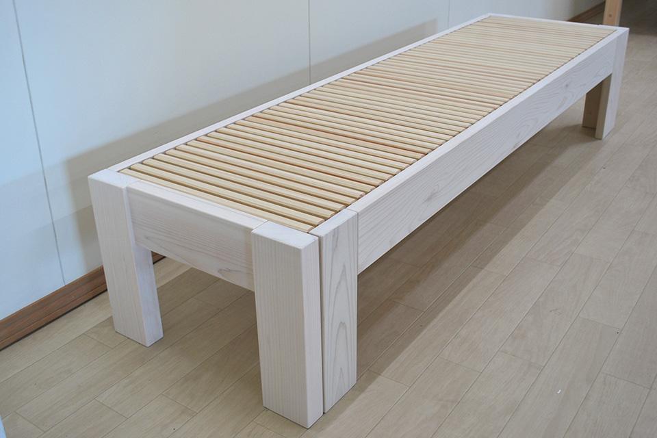ベンチサイズからセミシングルサイズに変更自在 伸縮ベッド1903036