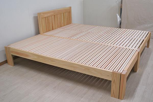 ひのきベッド2台連結広がるベッド